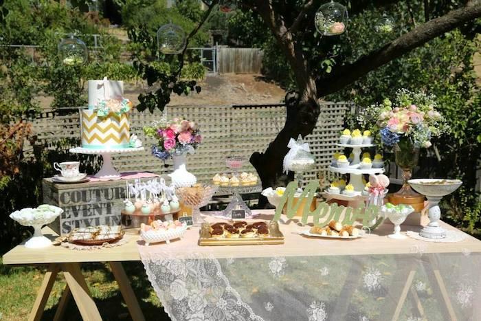 Karas Party Ideas Vintage Rustic Garden Themed Birthday Via