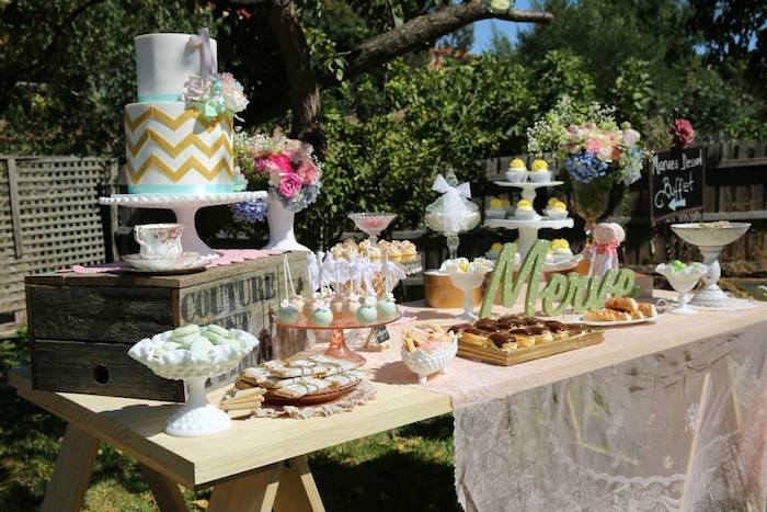 Kara's Party Ideas Vintage Rustic Garden themed birthday ...