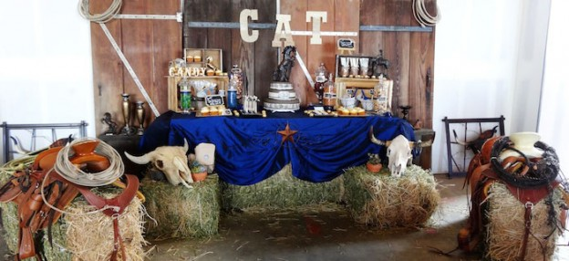 Western themed 55th birthday party with So Many Fun Ideas via Kara's Party Ideas | Cake, decor, cupcakes, games, desserts, and MORE! KarasPartyIdeas.com #westernparty #oldwest #rusticparty #cowboyparty #partydecor #partyideas (1)