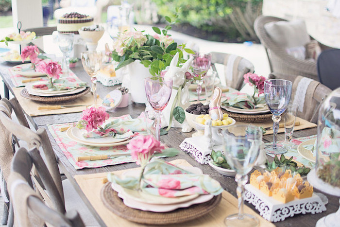 Shabby Chic Woodland Party With Such Cute Ideas Via Kara S Full Of
