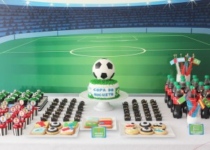 World Cup Soccer themed birthday party with Lots of Fabulous Ideas via Kara's Party Ideas | Cake, decor, desserts, games and more! KarasPartyIdeas.com #worldcup #soccerparty #worldcupparty #partyideas #partydecor #partyplanning (7)