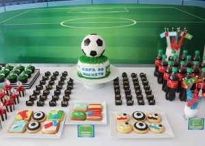 World Cup Soccer themed birthday party with Lots of Fabulous Ideas via Kara's Party Ideas | Cake, decor, desserts, games and more! KarasPartyIdeas.com #worldcup #soccerparty #worldcupparty #partyideas #partydecor #partyplanning (3)