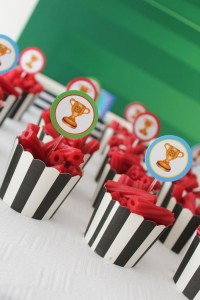 World Cup Soccer themed birthday party with Lots of Fabulous Ideas via Kara's Party Ideas | Cake, decor, desserts, games and more! KarasPartyIdeas.com #worldcup #soccerparty #worldcupparty #partyideas #partydecor #partyplanning (15)