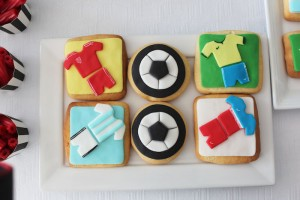 World Cup Soccer themed birthday party with Lots of Fabulous Ideas via Kara's Party Ideas | Cake, decor, desserts, games and more! KarasPartyIdeas.com #worldcup #soccerparty #worldcupparty #partyideas #partydecor #partyplanning (14)