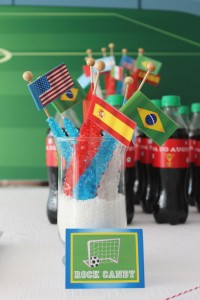 World Cup Soccer themed birthday party with Lots of Fabulous Ideas via Kara's Party Ideas | Cake, decor, desserts, games and more! KarasPartyIdeas.com #worldcup #soccerparty #worldcupparty #partyideas #partydecor #partyplanning (13)