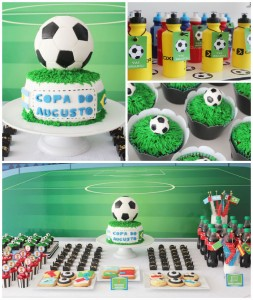 World Cup Soccer themed birthday party with Lots of Fabulous Ideas via Kara's Party Ideas | Cake, decor, desserts, games and more! KarasPartyIdeas.com #worldcup #soccerparty #worldcupparty #partyideas #partydecor #partyplanning (2)