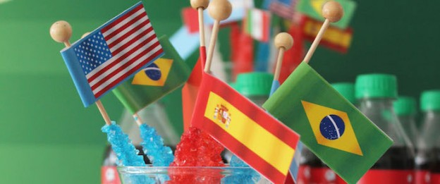 World Cup Soccer themed birthday party with Lots of Fabulous Ideas via Kara's Party Ideas | Cake, decor, desserts, games and more! KarasPartyIdeas.com #worldcup #soccerparty #worldcupparty #partyideas #partydecor #partyplanning (1)