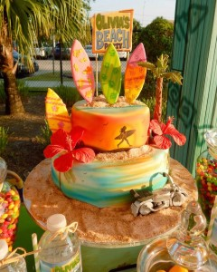 Disney's Teen Beach Movie with Lots of Really Fun Ideas themed birthday party via Kara's Party Ideas | Cake, decor, recipes, cupcakes, printables, favors, and MORE! #teenbeachmovie #beachparty #luau #surfing #surfparty #partydecor #partyideas #eventplanning #eventstyling #partyplanning (17)