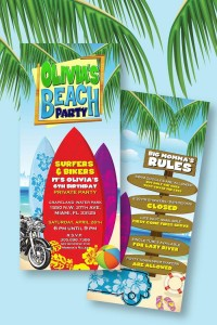 Disney's Teen Beach Movie with Lots of Really Fun Ideas themed birthday party via Kara's Party Ideas | Cake, decor, recipes, cupcakes, printables, favors, and MORE! #teenbeachmovie #beachparty #luau #surfing #surfparty #partydecor #partyideas #eventplanning #eventstyling #partyplanning (3)