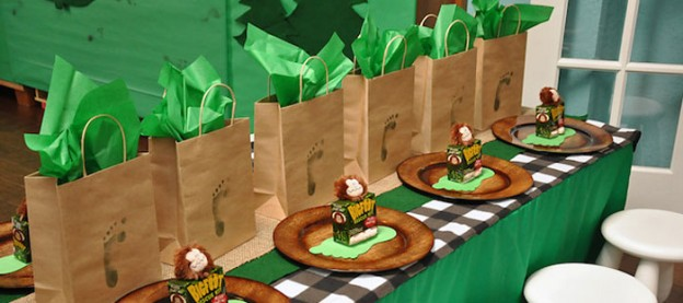 Bigfoot themed birthday party with Such Fun Ideas via Kara's Party Ideas | Cake, decor, cupcakes, favors, games, and MORE! KarasPartyIdeas.com #bigfoot #sasquatch #bigfootparty #partydecor #partyideas #partyplanner #eventplanner (3)