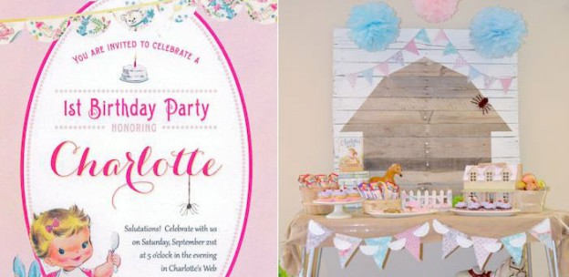 Charlotte's Web themed birthday party with Such CUTE IDEAS via Kara's Party Ideas KarasPartyIdeas.com Invitation, cake, dessert, games, printables and more! (1)