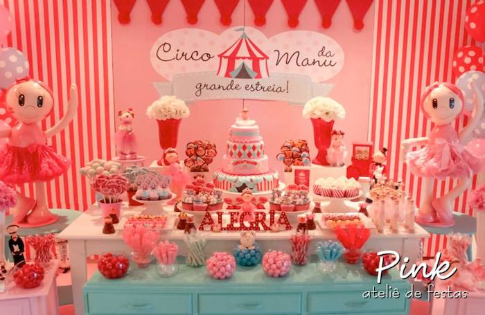 Girly Circus Themed Birthday Party With Lots Of Really Cute Ideas Via Karas