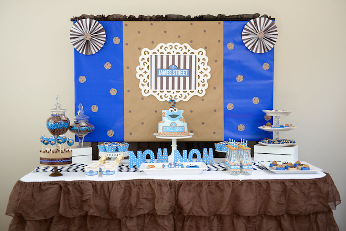 Amazing Cookie Monster Themed Birthday Party Full Of REALLY CUTE IDEAS Via Karau0027s  Party Ideas! Full