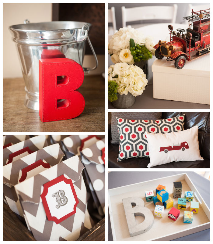 Vintage Firetruck Themed Baby Shower Full Of Darling Ideas Via Kara S Party Cake