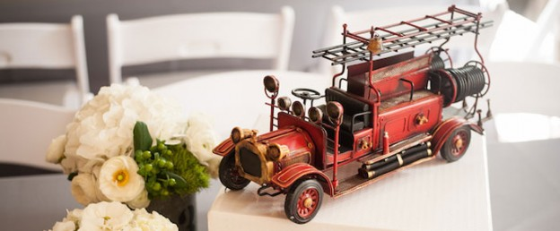 Vintage Firetruck themed baby shower Full of Darling Ideas via Kara's Party Ideas   Cake, decor, favors, printables, games, and more! KarasPartyIdeas.com #vintagefiretruck #firetruck #firemanparty #firemanbabyshower #partyideas #eventplannign #partydesign #babyshower (1)