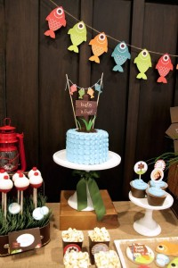 Gone Fishing themed birthday party via Kara's Party Ideas KarasPartyIdeas.com | Cupcakes, favors, recipes, desserts, and more! #fishingparty #gonefishing #partydecor #partyideas #partydesign (30)
