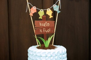 Gone Fishing themed birthday party via Kara's Party Ideas KarasPartyIdeas.com | Cupcakes, favors, recipes, desserts, and more! #fishingparty #gonefishing #partydecor #partyideas #partydesign (20)