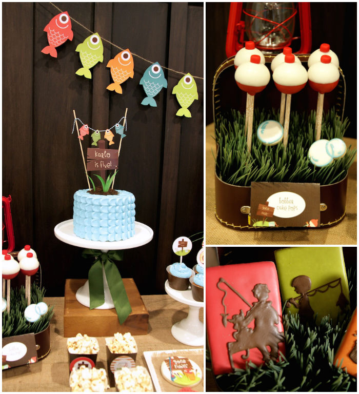 Kara 39 s party ideas gone fishing themed birthday party via for Fish party decorations