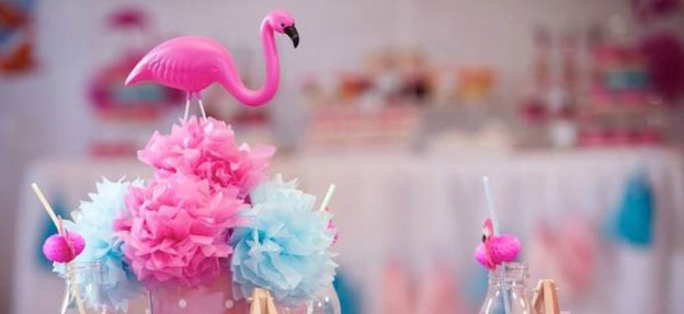 Pink Flamingo themed birthday party Full of Lots of Cute Ideas via Kara's Party Ideas! full of decorating ideas, cakes, recipes, favors, printables, and more! KarasPartyIdeas.com #pinkflamingo #flamingo #flamingoparty #pinkandgirly #partyideas #partydecor #partystyling #eventstyling #eventplanner (1)