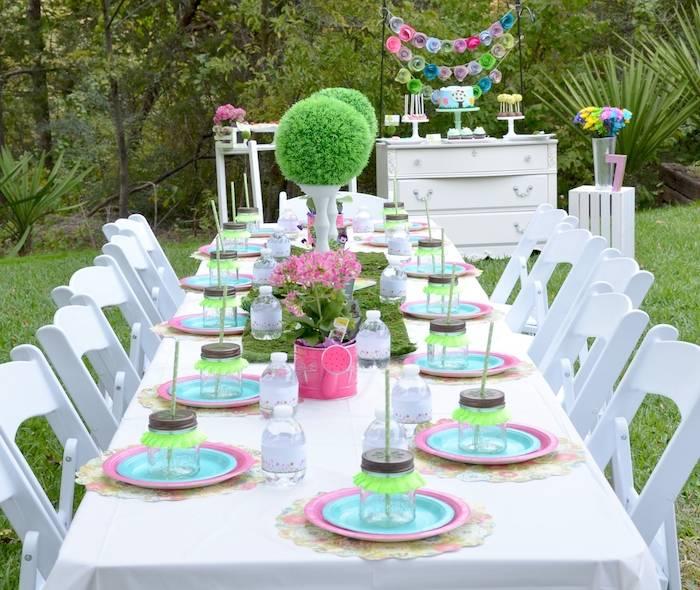 Garden Themed Kitchen Decor: Kara's Party Ideas Garden Of Eden Themed Birthday Party