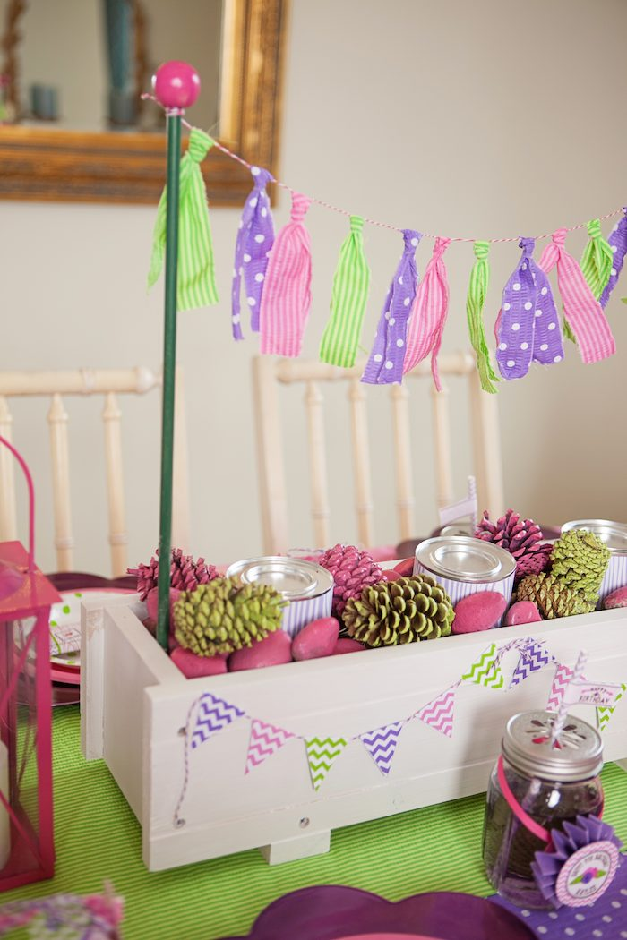 Kara S Party Ideas Glamping Themed Birthday Party With