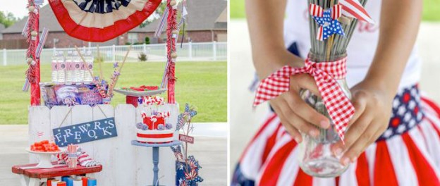 Glorious 4th of July outdoor party via Kara's Party Ideas KarasPartyIdeas.com | The Place for all things PARTY!  #4thofjuly #july4th #partydecor #partyplanning (1)