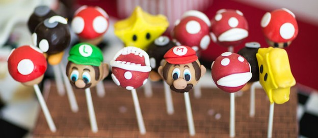 Mario Kart themed birthday party with lots of REALLY CUTE IDEAS via Kara's Party Ideas | Cake, decor, printables, favors, games, and MORE! KarasPartyIdeas.com #supermariobrothers #marioparty #mariokart #partydecor #partyplanning #partyideas (1)