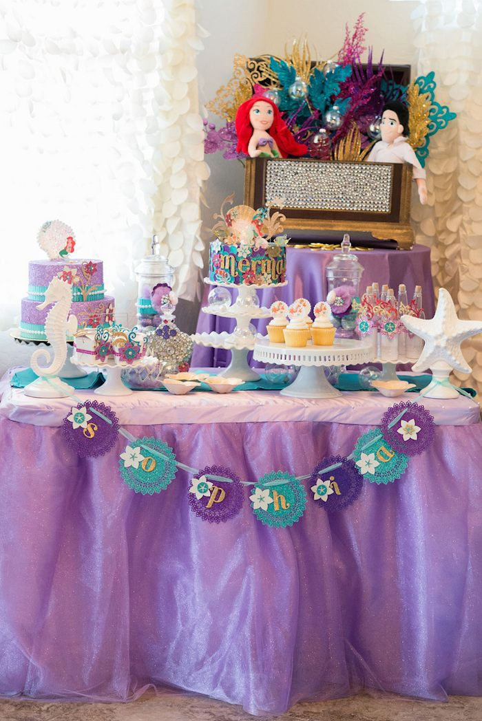 Kara 39 S Party Ideas Little Mermaid Under The Sea Birthday Party Via Kara 39 S Party Ideas Cake