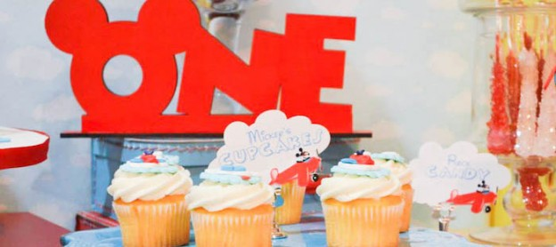 Mickey Mouse Aviator themed birthday party with Such Cute Ideas via Kara's Party Ideas | Cake, decor, cupcakes, games, and MORE! #mickeymouse #aviator #mickeymouseparty #aviatorparty #partystyling #partyideas #eventplanning #partyplanner (1)