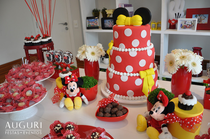 Clic Red Minnie Mouse Party Supplies Party City Hours