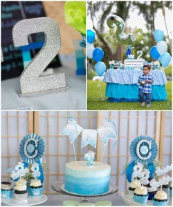 Party Ideas Blue Ombre second birthday party via Karas Party Ideas ...