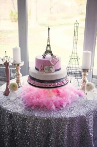 Pink Paris themed baby shower with So Many Really Cute Ideas via Kara's Party Ideas! full of decorating ideas, cakes, favors, games, and more! KarasPartyIdeas.com #parisparty #eiffeltower #paris #girlbabyshower #partyideas #partydecor #eventplanner #partydesign (34)