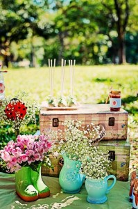Summer Picnic themed birthday party with So Many Cute Ideas via Kara's Party Ideas | Cake, decor, favors, games, and more! KarasPartyIdeas.com #picnic #picnicparty #partyideas #partyplanning #partydecor #partydesign (13)