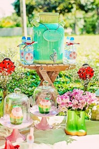 Summer Picnic themed birthday party with So Many Cute Ideas via Kara's Party Ideas | Cake, decor, favors, games, and more! KarasPartyIdeas.com #picnic #picnicparty #partyideas #partyplanning #partydecor #partydesign (12)
