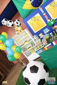 World Cup Soccer themed dessert table via Kara's Party Ideas | Cake, decor, favors, games, and more! KarasPartyIdeas.com #soccerparty #worldcup #soccer #partystyling #partyideas #eventplanner #partydesign (6)
