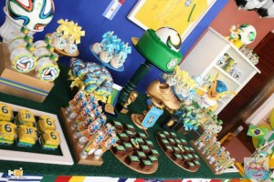 World Cup Soccer themed dessert table via Kara's Party Ideas | Cake, decor, favors, games, and more! KarasPartyIdeas.com #soccerparty #worldcup #soccer #partystyling #partyideas #eventplanner #partydesign (5)