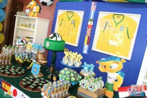 World Cup Soccer themed dessert table via Kara's Party Ideas | Cake, decor, favors, games, and more! KarasPartyIdeas.com #soccerparty #worldcup #soccer #partystyling #partyideas #eventplanner #partydesign (4)