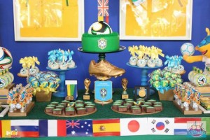 World Cup Soccer themed dessert table via Kara's Party Ideas | Cake, decor, favors, games, and more! KarasPartyIdeas.com #soccerparty #worldcup #soccer #partystyling #partyideas #eventplanner #partydesign (3)