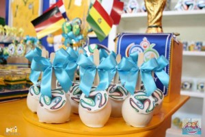 World Cup Soccer themed dessert table via Kara's Party Ideas | Cake, decor, favors, games, and more! KarasPartyIdeas.com #soccerparty #worldcup #soccer #partystyling #partyideas #eventplanner #partydesign (14)