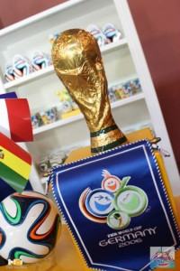 World Cup Soccer themed dessert table via Kara's Party Ideas   Cake, decor, favors, games, and more! KarasPartyIdeas.com #soccerparty #worldcup #soccer #partystyling #partyideas #eventplanner #partydesign (13)