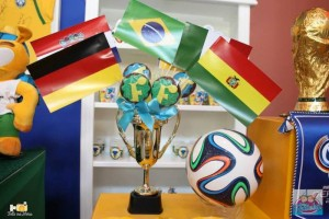 World Cup Soccer themed dessert table via Kara's Party Ideas | Cake, decor, favors, games, and more! KarasPartyIdeas.com #soccerparty #worldcup #soccer #partystyling #partyideas #eventplanner #partydesign (12)