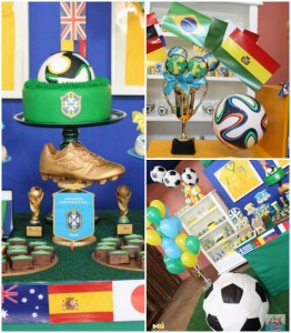 World Cup Soccer themed dessert table via Kara's Party Ideas | Cake, decor, favors, games, and more! KarasPartyIdeas.com #soccerparty #worldcup #soccer #partystyling #partyideas #eventplanner #partydesign (1)