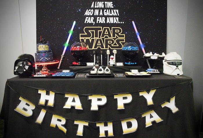 Kara S Party Ideas Star Wars Themed Birthday Party Via