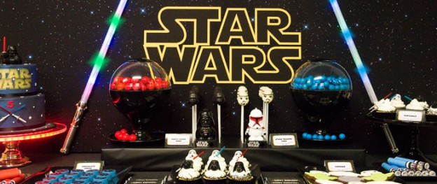 Star Wars themed birthday party via Kara's Party Ideas! full of decorating ideas, favors, games, printables, and more! #starwars #darthvader #maytheforcebewithyou #starwarsparty #partystyling #partyideas #partydecor (2)