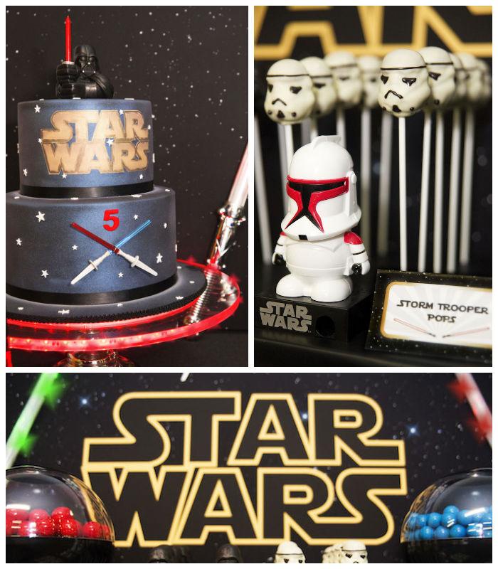 Kara's Party Ideas Star Wars Themed Birthday Party Via