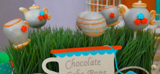 Turquoise and Orange Second Birthday Tea Party with Lots of Really Cute Ideas via Kara's Party Ideas | Cake, Decor, Desserts, Recipes, Printables, and MORE! KarasPartyIdeas.com #teaparty #turquoiseteaparty #partydecor #partyideas #partyplanning #partydesign (1)