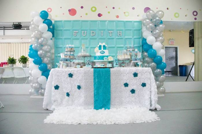 Tiffany Co Inspired Birthday Party With Lots Of REALLY CUTE IDEAS Via Karas