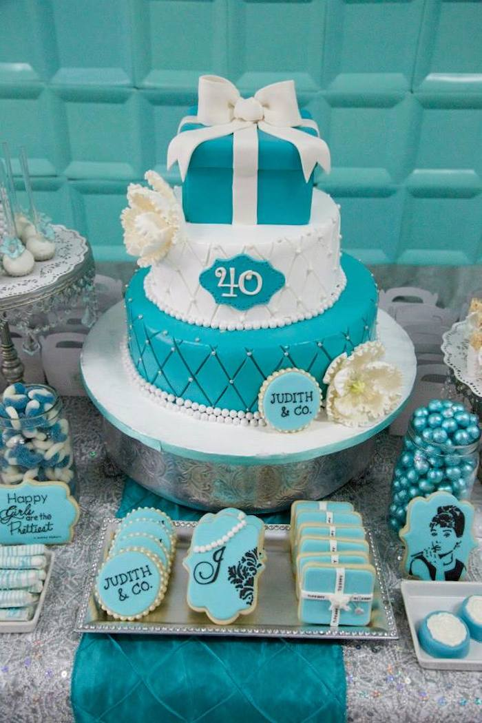 Kara S Party Ideas Tiffany Amp Co Inspired Birthday Party