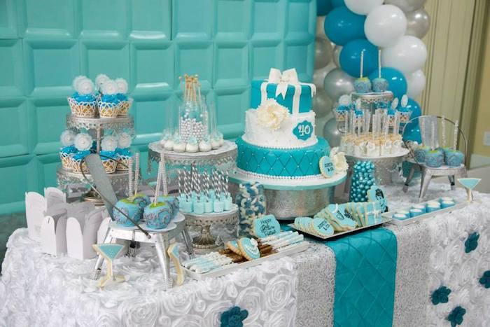 Karas Party Ideas Tiffany Amp Co Inspired Birthday Party