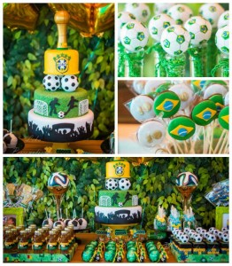 World Cup themed birthday party with So Many Fabulous Ideas via Kara's Party Ideas | Cake, decor, favors, games, printables, and more! KarasPartyIdeas.com #worldcup #soccerparty #partyplanning #eventplanning #partyideas #partdecor (2)